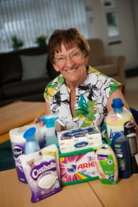 Carer Agnes with a Help Pack