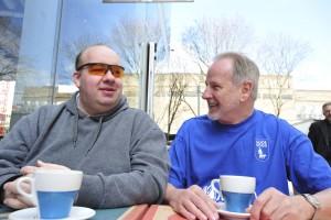 Stuart Pearce (VI) and his My Guide volunteer Richard