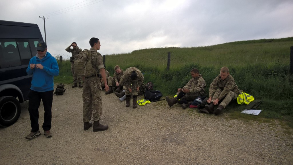 Kieran talking to cadets