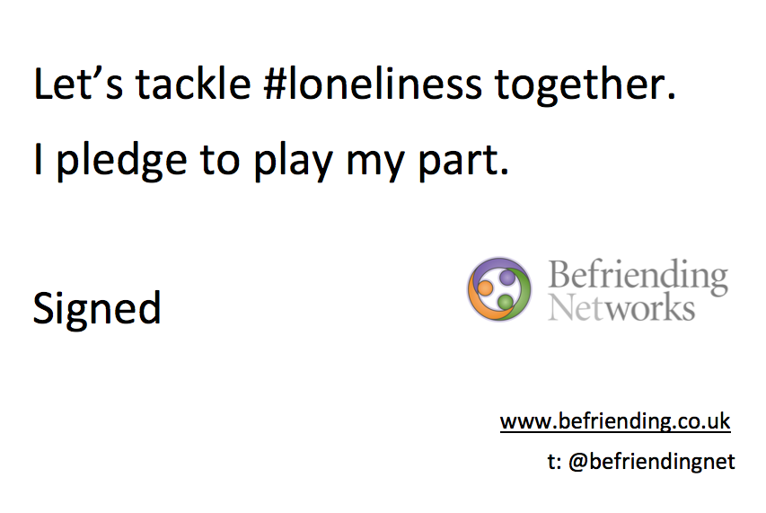 Befriending Networks Loneliness Pledge