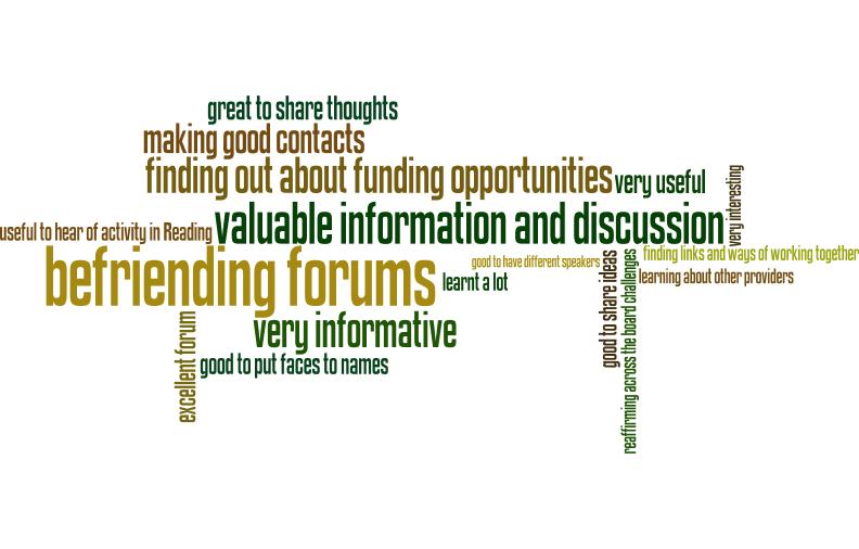 Befriending Forum Feedback Wordle