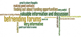 Befriending Forum Feedback Wordle