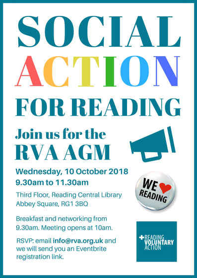 Social Action for Reading, Join us for the RVA AGM