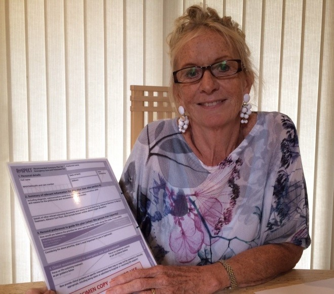 Karen Swaffield, patient representative