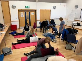 First aid course at the Earley Crescent Centre